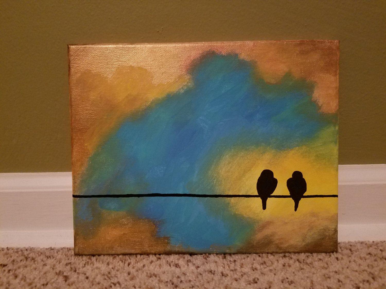 Birds on a wire telephone wire birds telephone birds two birds 8x10 ...