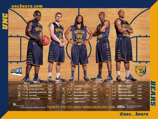 Northern Colorado Mbb Poster Basketball Posters College Athletics