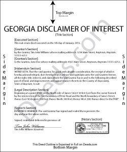 quick claim deed form in georgia  Georgia Disclaimer of Interest Form | websites | Quitclaim ...