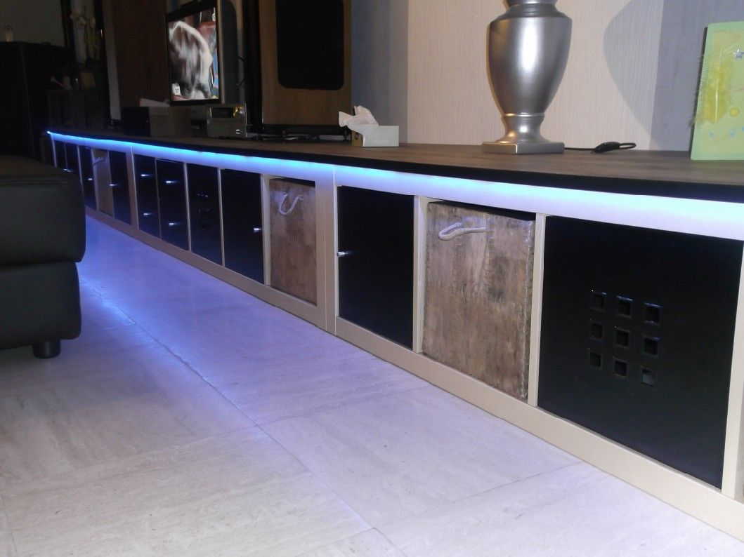 sleek media unit from expedit shopping home ikea. Black Bedroom Furniture Sets. Home Design Ideas