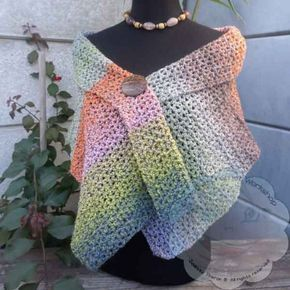 Lacy V Stitch Shawl Free Crochet Pattern