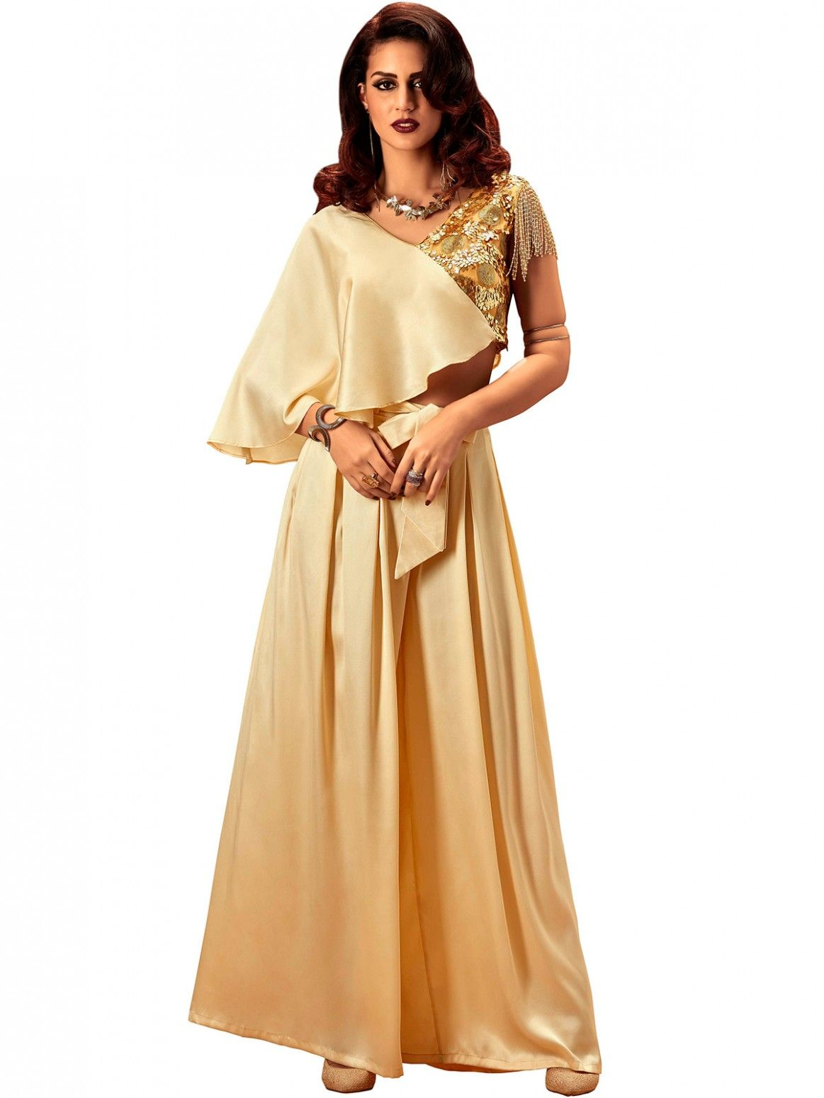 Buy Khwaab Party Wear Dress featuring Crop Top  amp  Palazzo Pants Online  at Low prices 5a31ef308