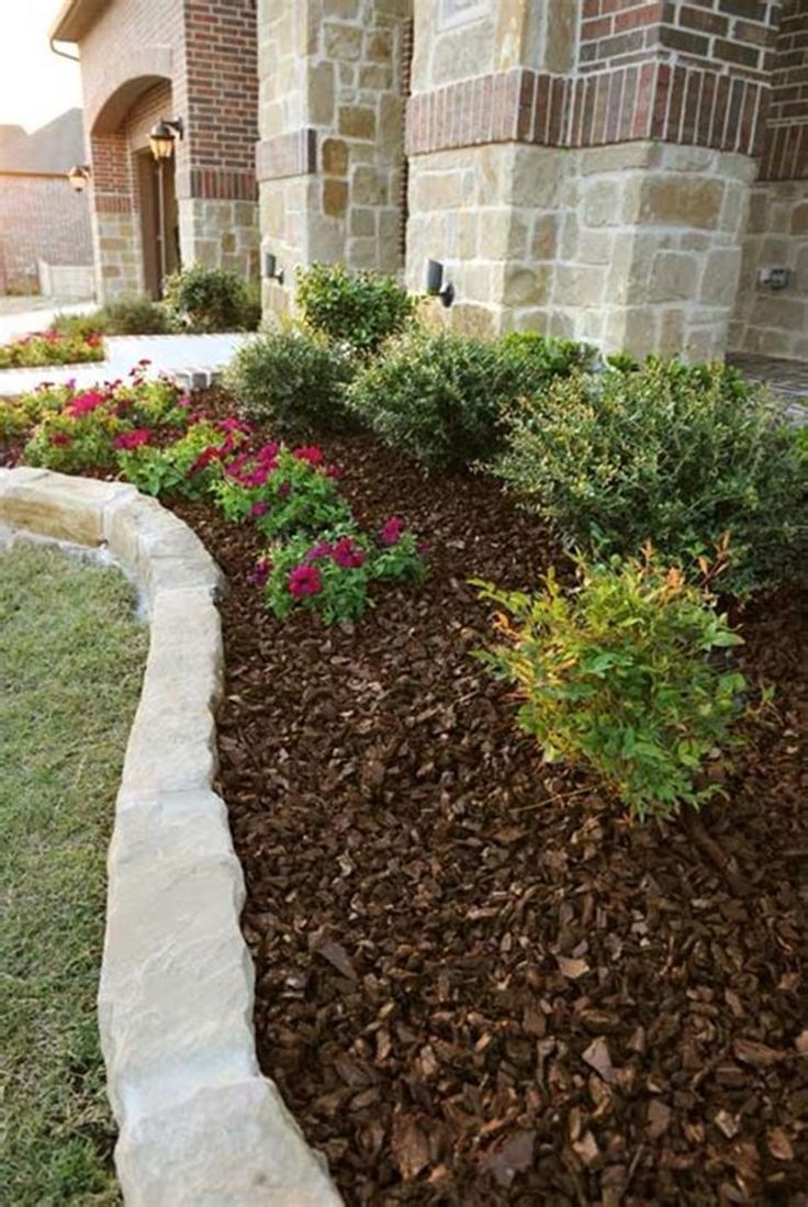33 Affordable Landscaping Ideas With Mulch And Rocks,