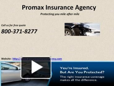 Mercury Insurance Quote Promax Insurance Agency Is A Mercury Authorized Agent Provides Cheap