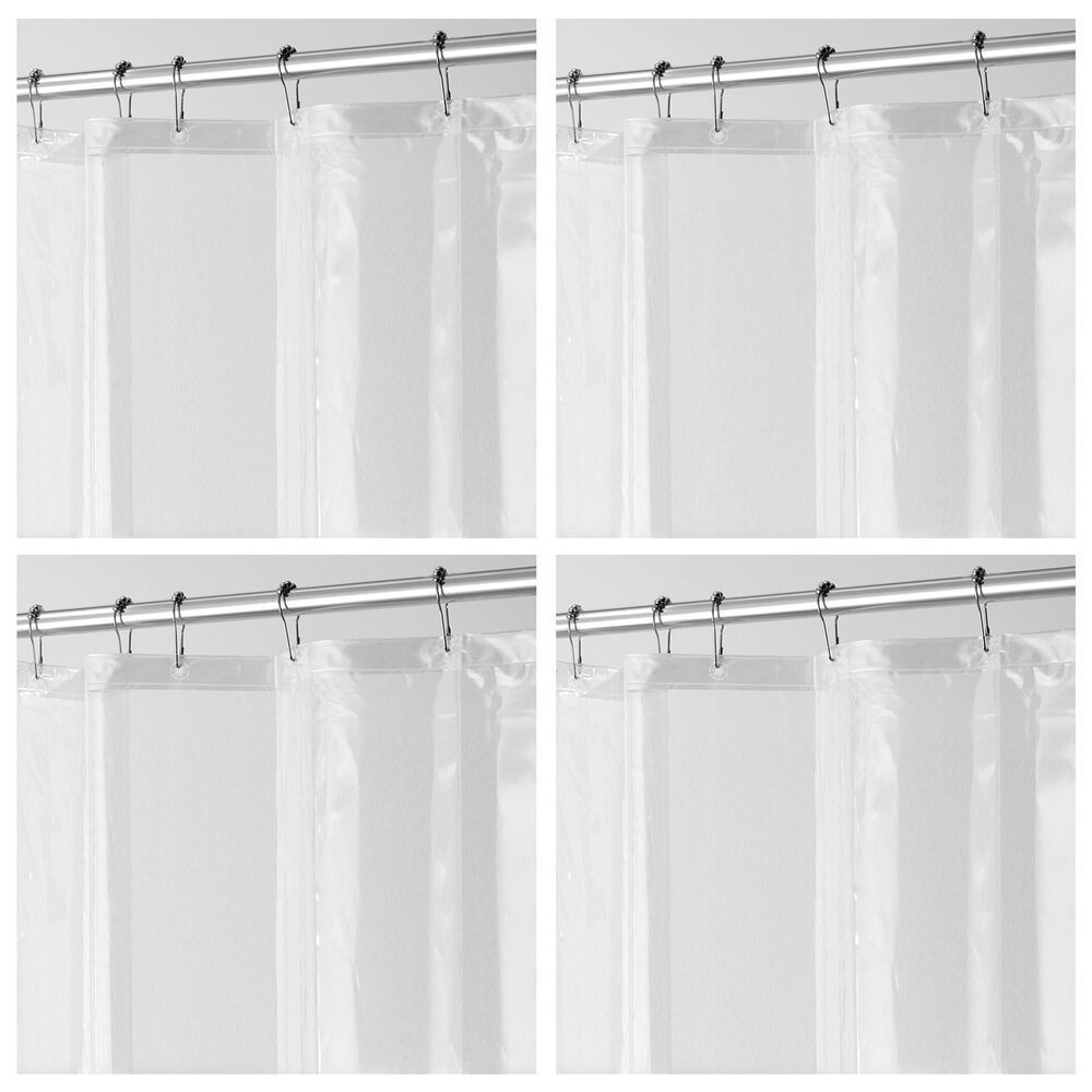 Long Peva Shower Curtain Liner For Bath In Clear 72 X 84