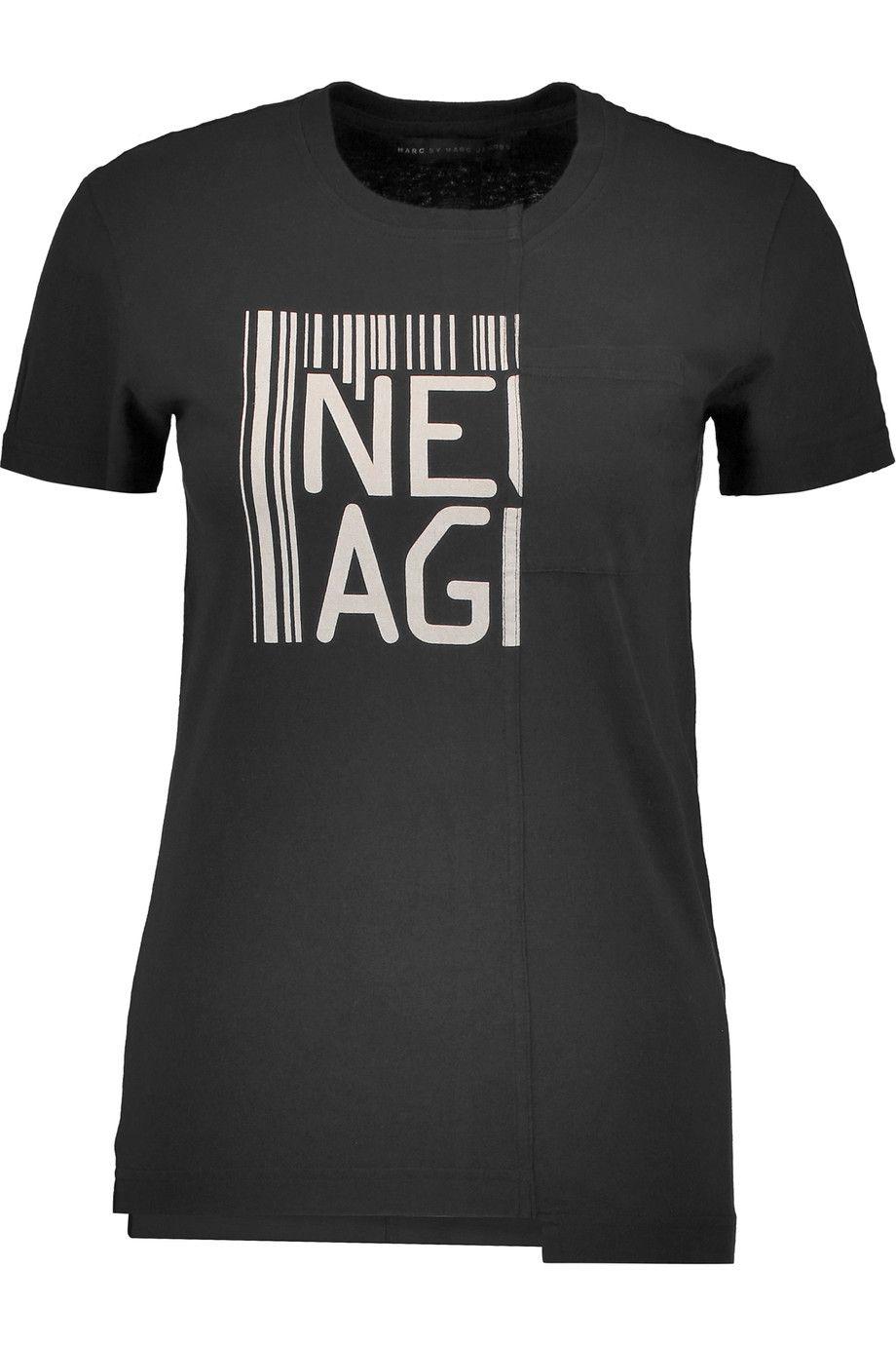 MARC BY MARC JACOBS Printed cotton T-shirt. #marcbymarcjacobs #cloth #t-shirt