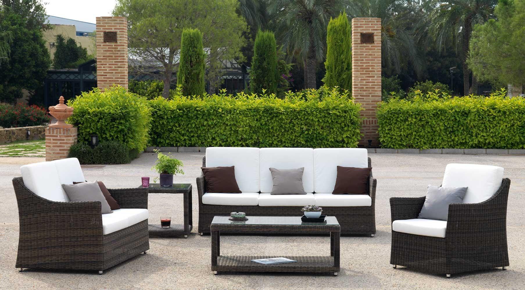 Sof De Exterior Ibiza 2 Plazas Sof S De Jard N Sof S Ratt N  # Muebles De Jardin Wicker
