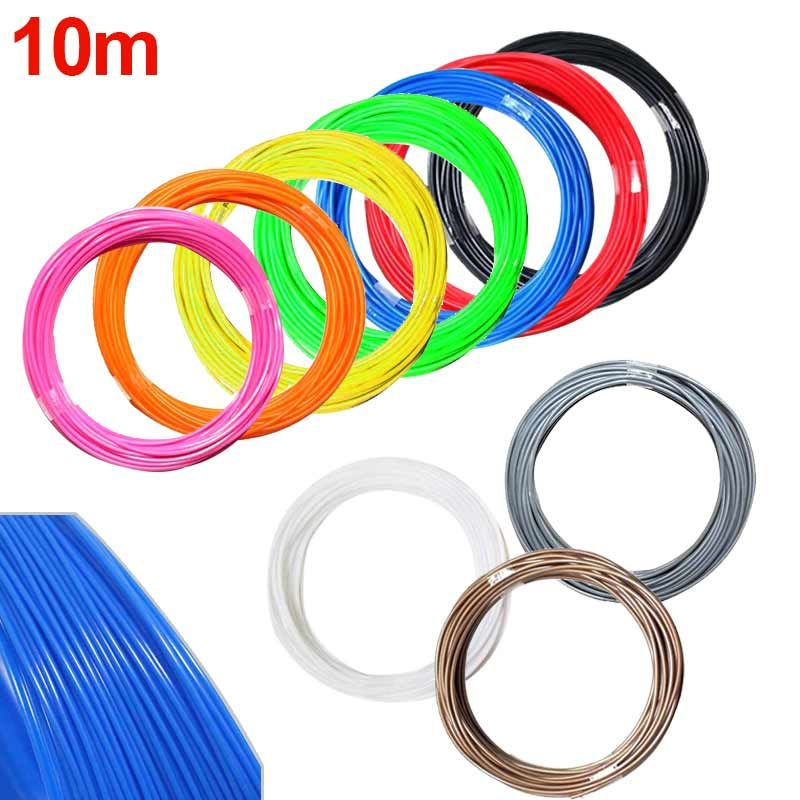 20 Rolls 5m//10m 3D Printer Filament 1.75mm ABS RepRap MarkerBot Print Material