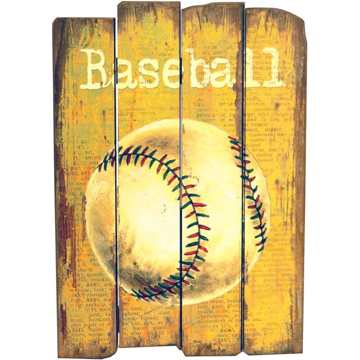 Baseball #Wall #Décor for the boys room. Great #birthday #gift ...