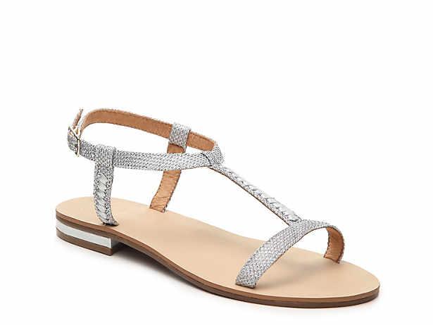 silver flat sandals | DSW | Silver flat