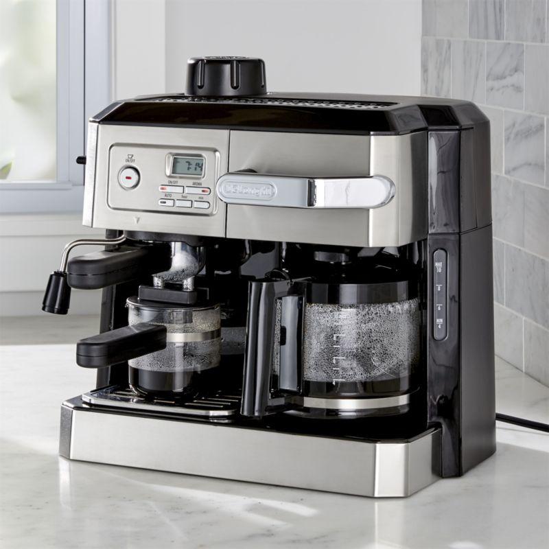 a62114917678 DeLonghi ® Combination Coffee and Espresso Machine | Crate and Barrel