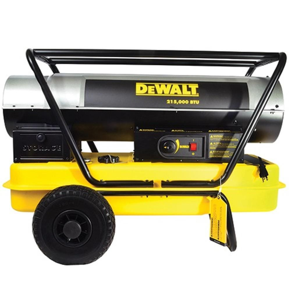 Dewalt 215 000 Btu Heavy Duty Forced Air Kerosene Heater Dxh215hd Kerosene Heater Portable Heater Shop Heater