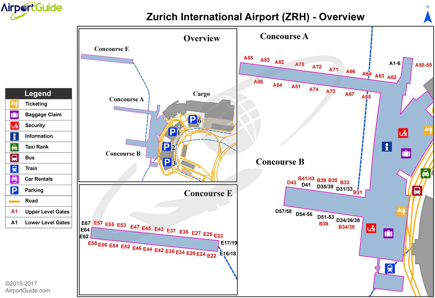 zurich airport gate map Zurich Zurich Zrh Airport Terminal Map Overview Airport zurich airport gate map