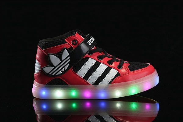 promo code efa42 2f587 Adidas Light Up Shoes Kids Red Black White 26-35 Spain