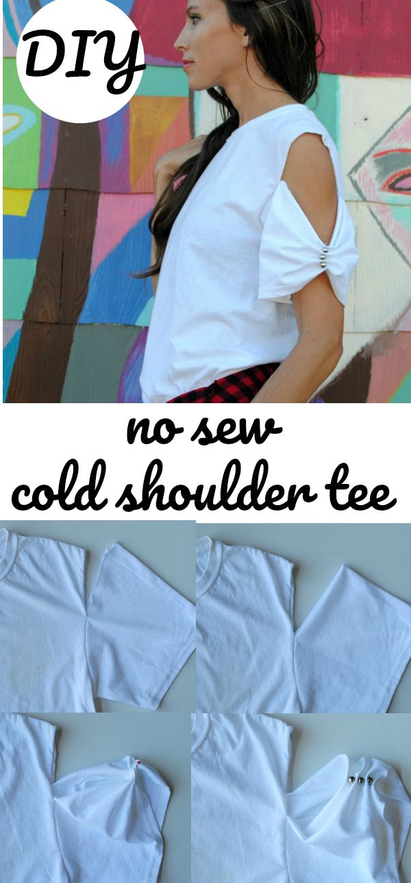 DIY: the cold shoulder tee: 2 ways