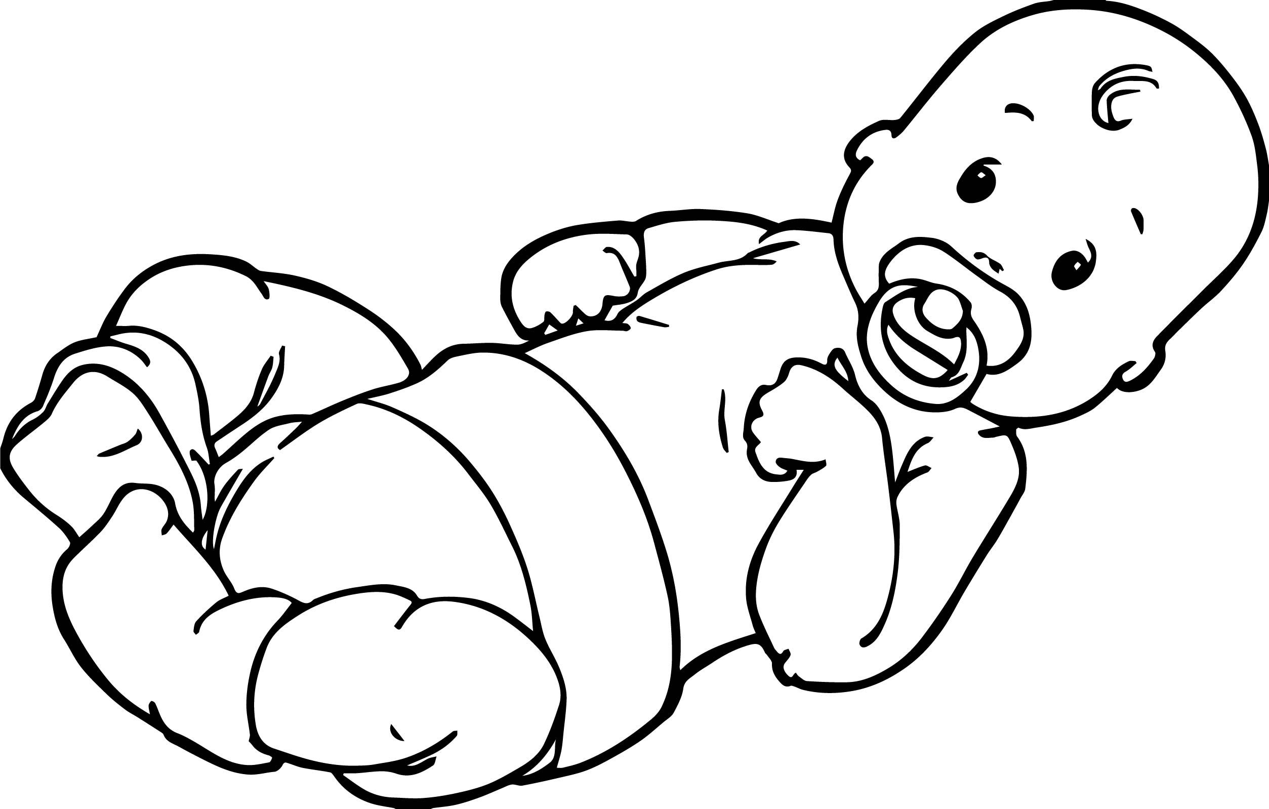Cool Baby Boy Top Coloring Page