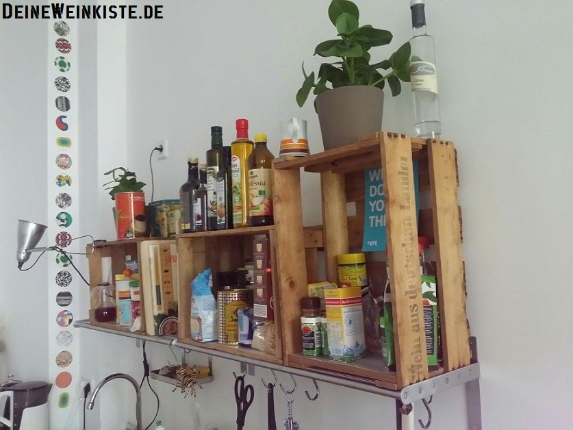 Edelstahl Küchenregal ~ Besten weinkisten küchenregale bilder auf