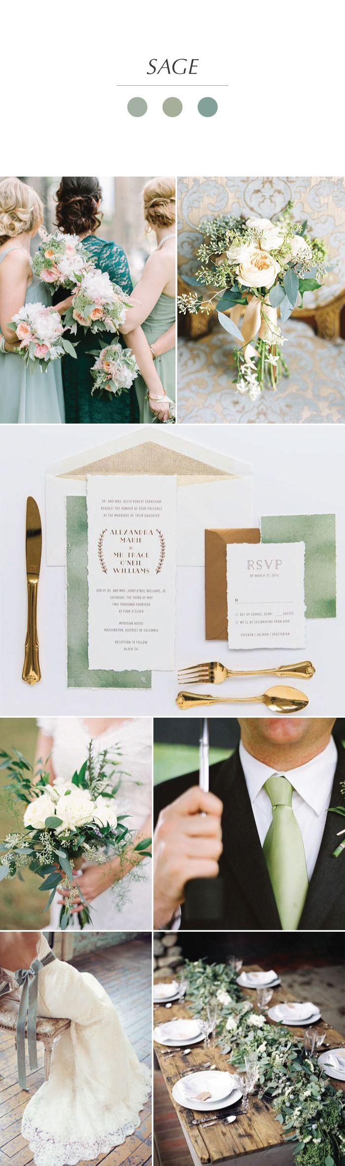 Planning a sage green wedding check out these ideas - What color is sage green ...