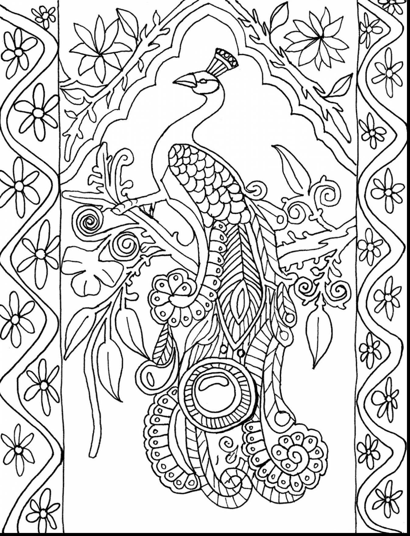 Coloring pages of peacocks - Magnificent Peacock Adult Coloring Pages Printable With Adult Coloring Pages Free Printable And Adult Coloring Pages