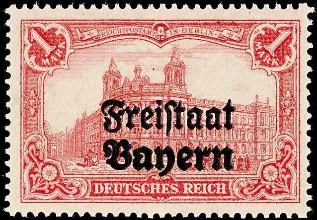 Old German States Bavaria, Michel 148BDD. 1 Mark German