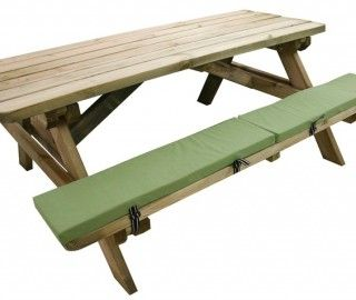 Great 16 Appealing Picnic Bench Cushions Picture Ideas