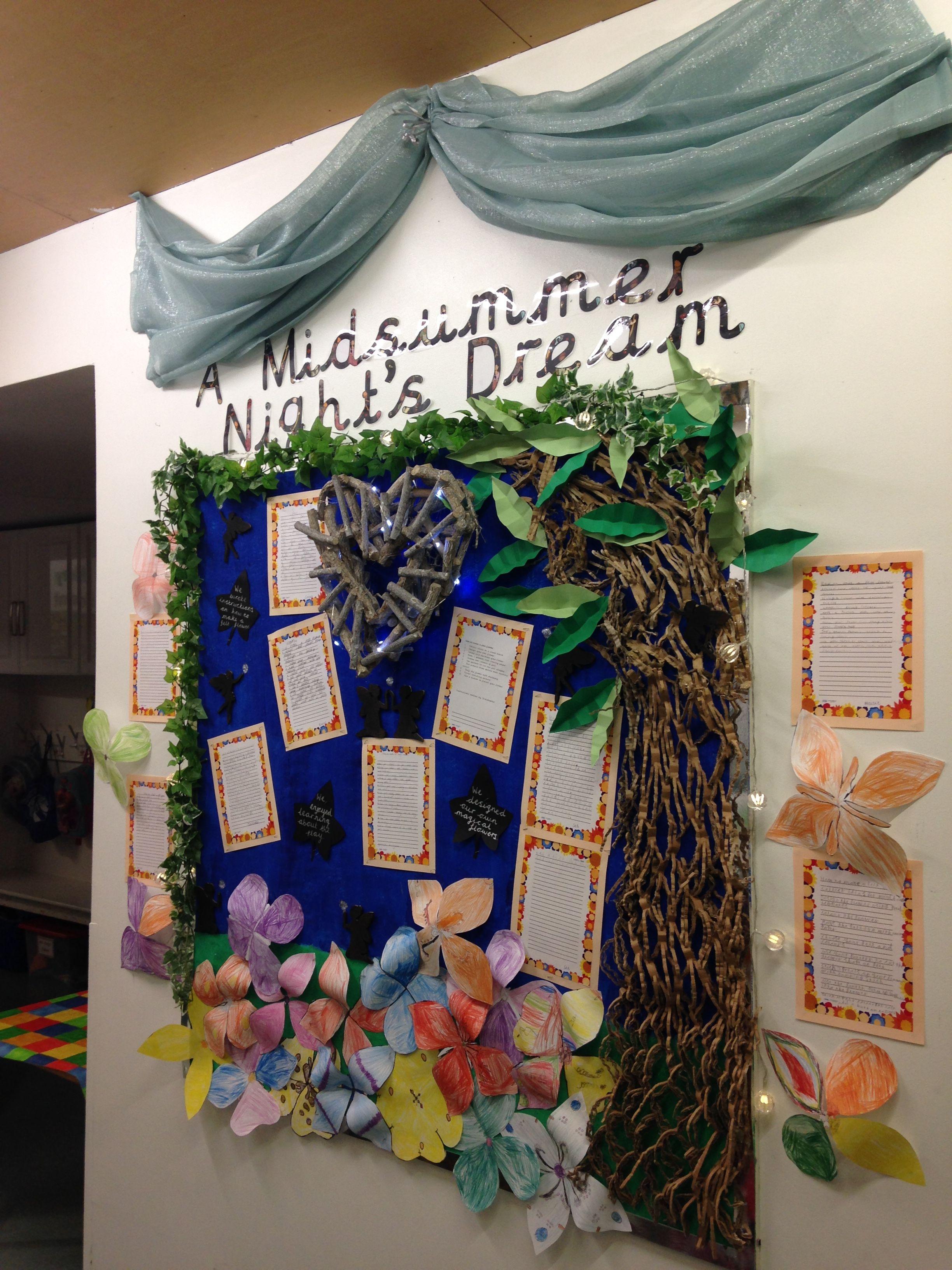 Shakespeare Display Ks1 Primary School A Midsummer Night