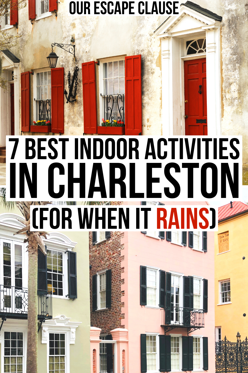 What To Do In Charleston When It Rains 7 Fun Indoor Activities North America Travel Destinations Usa Travel Destinations Travel Usa
