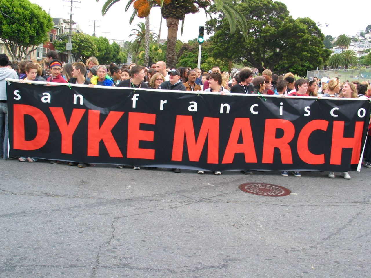 LGBT Pride: Where to Eat and Drink During the Dyke March. San Francisco Dyke March. Photo: Wendy Goodfriend Post by Mary Ladd