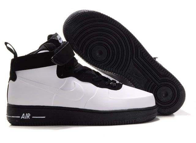 best service c81b1 84f3a Mens Nike Air Force 1 High Foamposite White Black