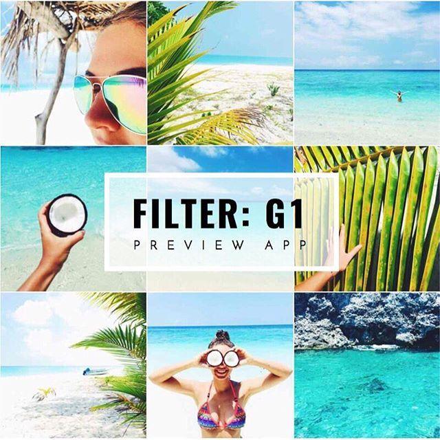 Tropical, beach, summer Instagram theme ideas using