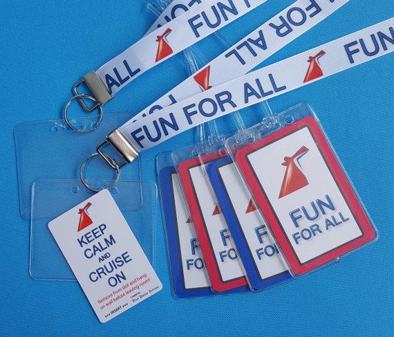 Cruise Gift Set Lanyards Luggage Tags Light Card