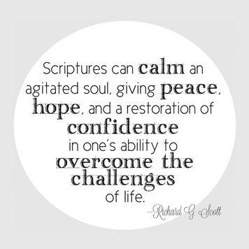 Scripture Study Handout Lds Quotes Scripture Study Quotes Lds
