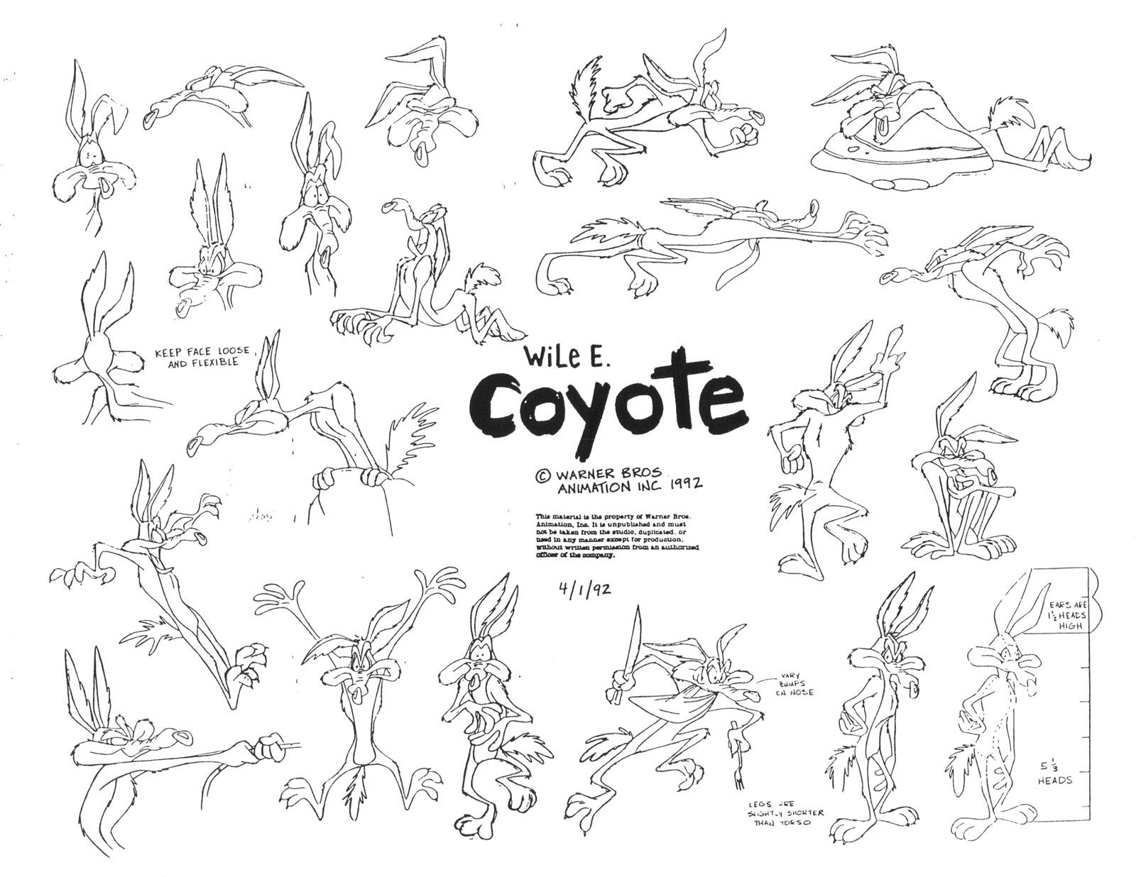 Wile E Coyote Looney Toons Warner Bros Pinterest