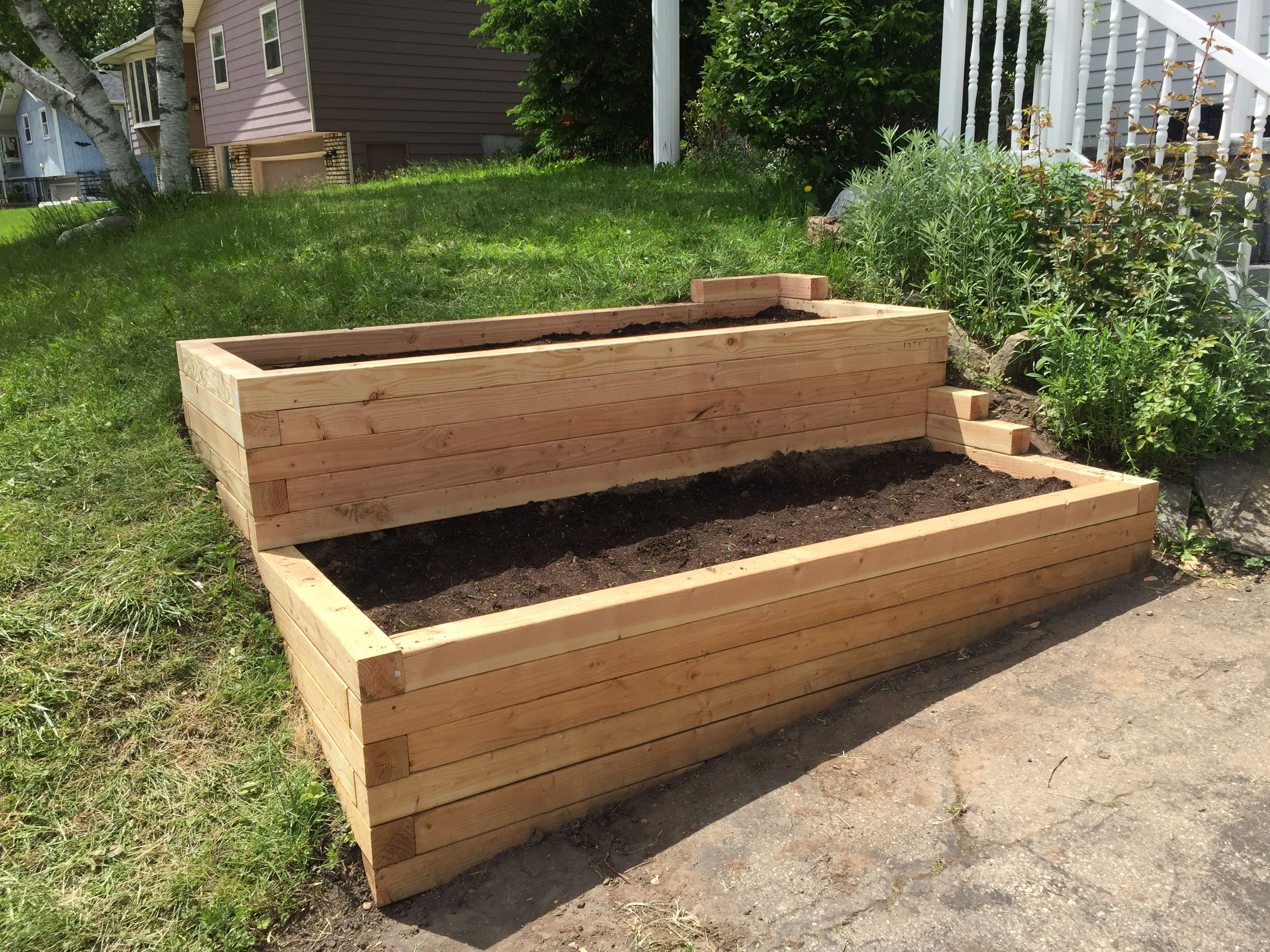 Terraced Garden Beds Built Into A Hill 8 4x4 Douglas Fir
