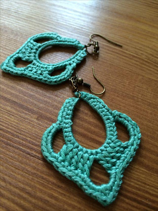 Bisuterías | Crochet Bisutería | Pinterest | Pendientes, Ganchillo y ...