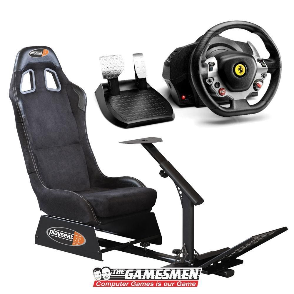 Playseat Alcantara Racing Simulator Cockpit Thrustmaster TX Wheel