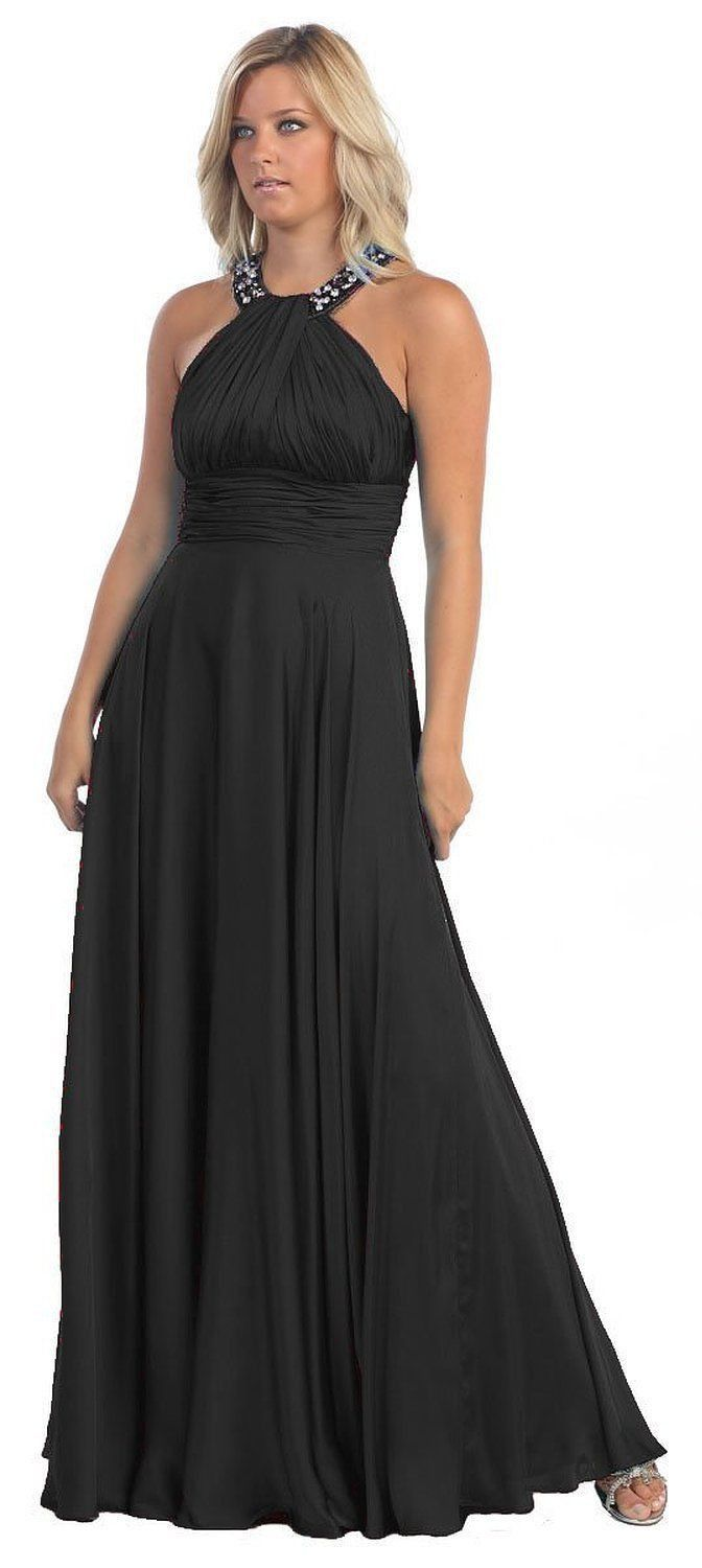 Long Formal Evening Plus Size Dress Hollywood