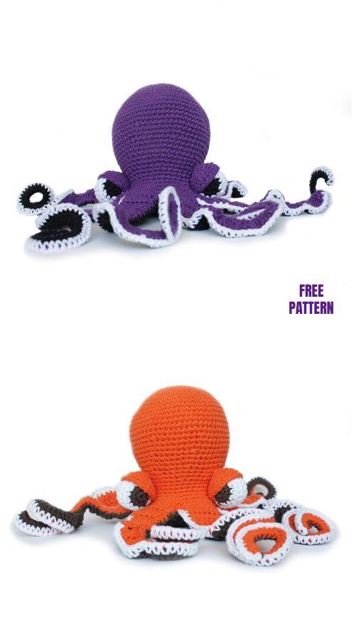 Crochet Octavia the Octopus Amigurumi Free Pattern #crochetoctopus
