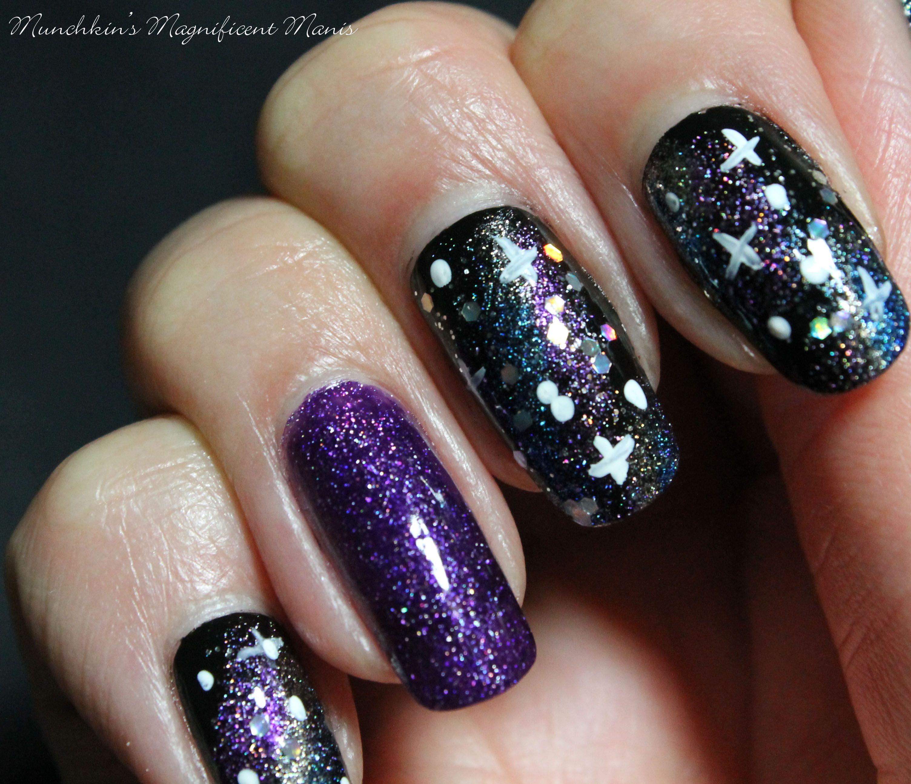 Galaxy Far Away- Galaxy Nail Design | Galaxy nail, Ring finger nails ...