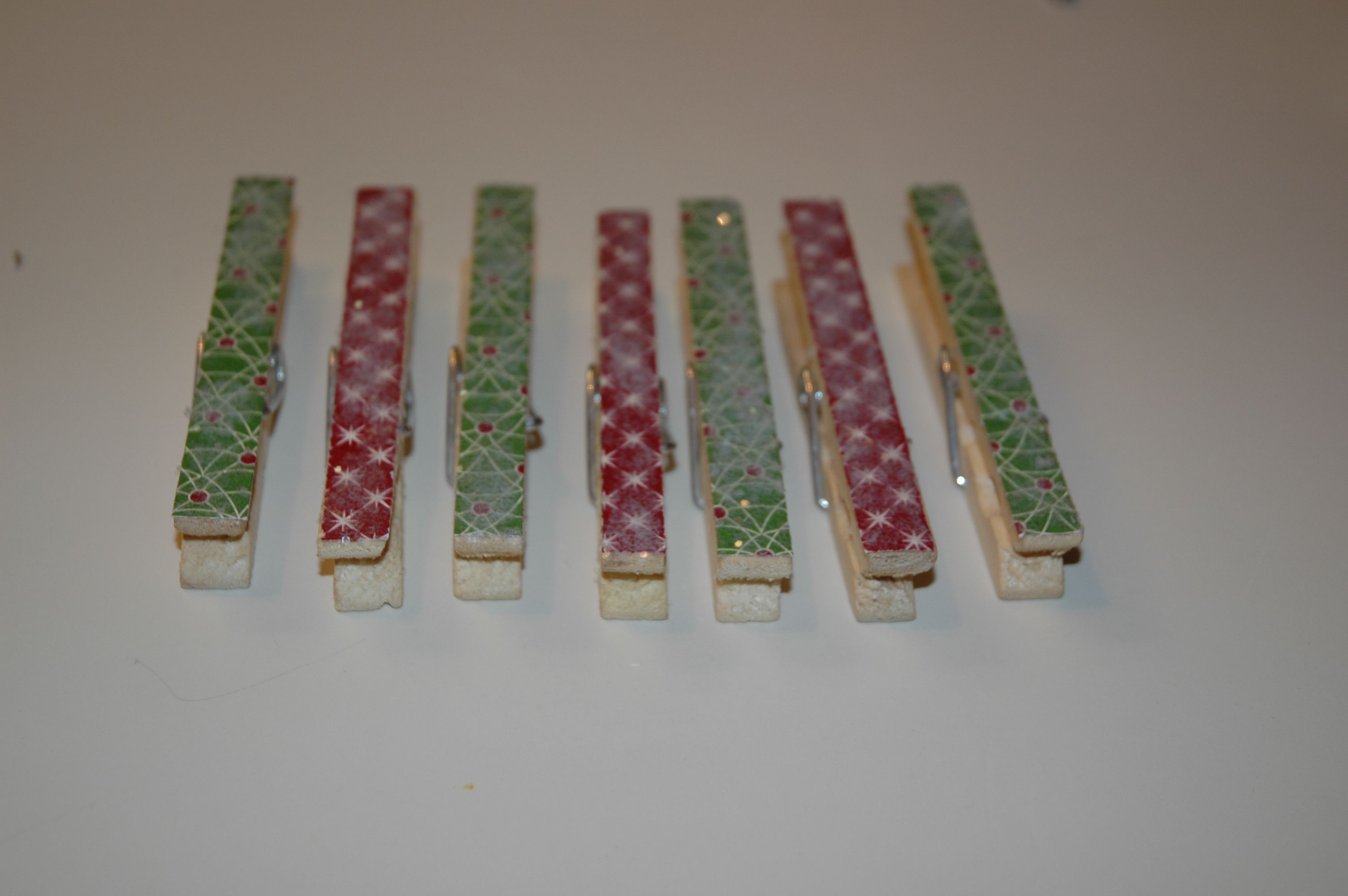 Holiday Clothespins That We Made As A Holiday Craft