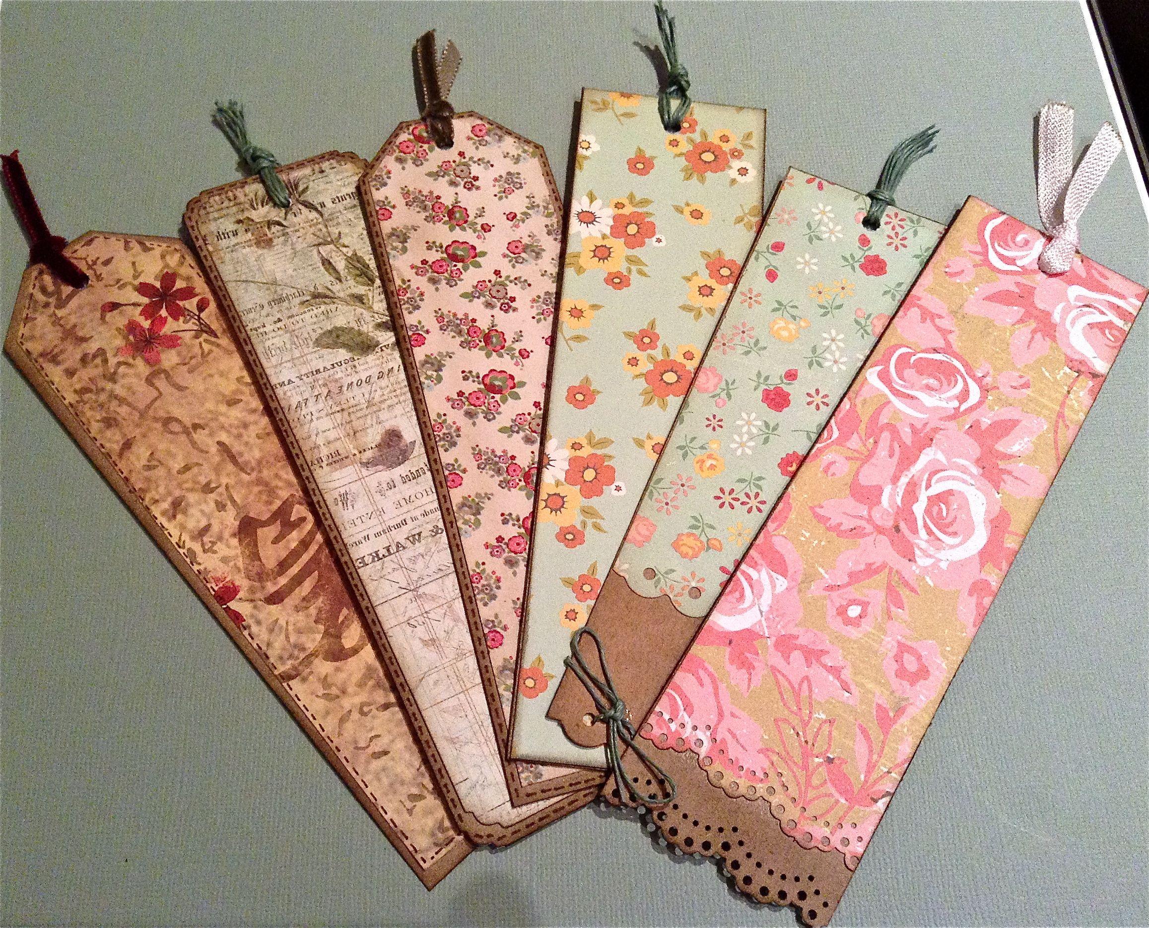 Puntos de libro punts de llibre bookmarks scrapbooking - Manualidades originales y faciles ...