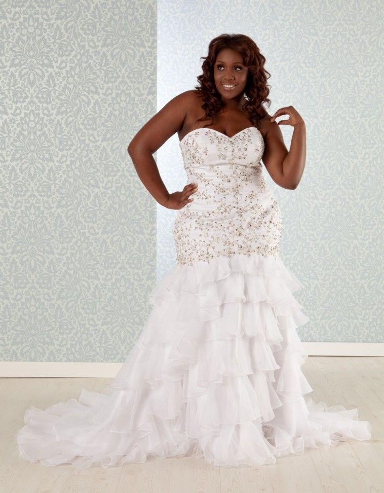 Mermaid style wedding dresses for plus size