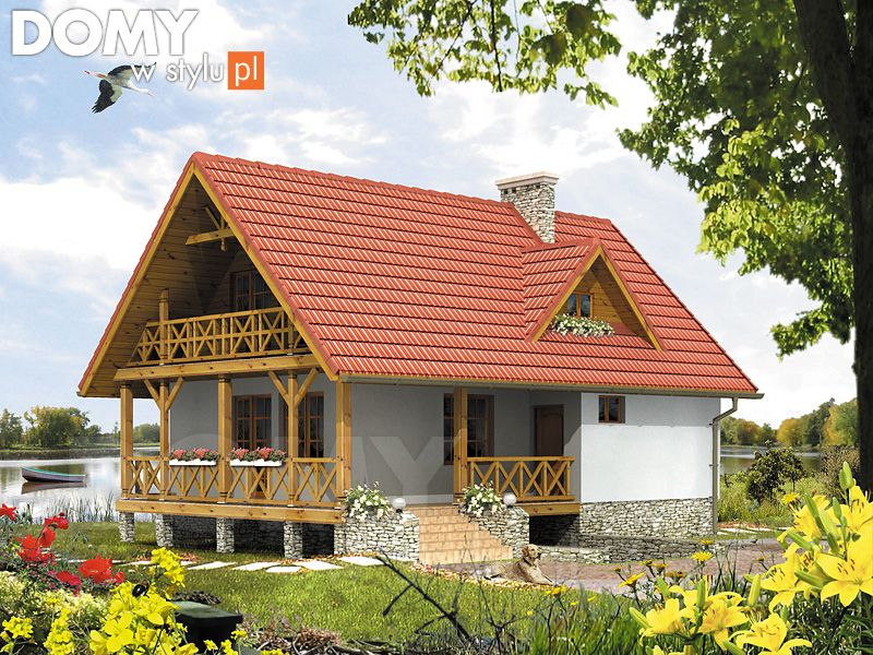 Projekt Domu Takt 3 Wizualizacja Frontowa House Exterior House Styles Log Homes