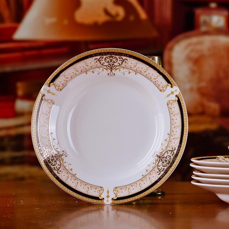 Chinese Style Dining Room Ceramic Tableware Jingdezhen Bone China Porcelain Dinnerware 8*inch Deep Rice & Chinese Style Dining Room Ceramic Tableware Jingdezhen Bone China ...