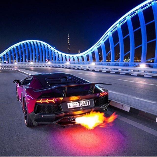 Welcome In Dubai Dubainightinstacarslambosexyfire - Cool cars on fire