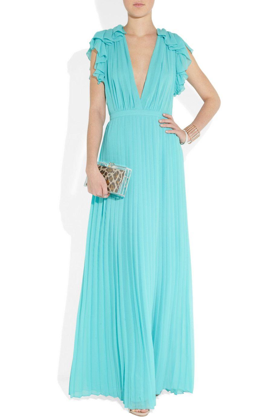 Gucci | Pleated silk-georgette gown | NET-A-PORTER.COM | + BLACK TIE ...