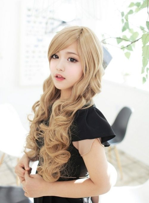 Korean Blonde Hair Google Search Hair Styles Kawaii