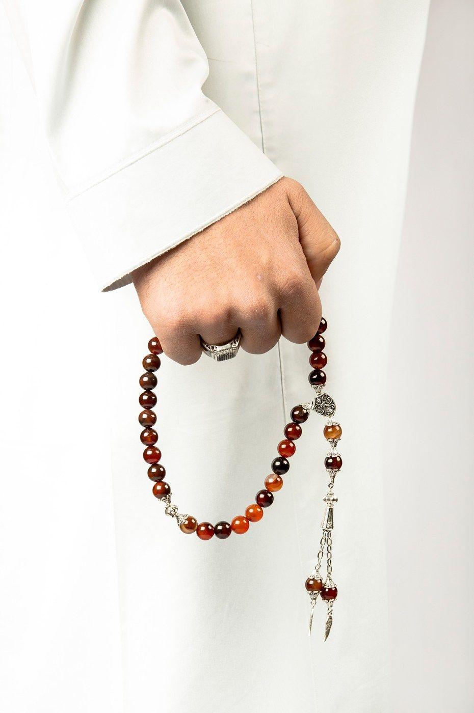 مسبحة العقيق الأحمر متجر السندس Mens Fashion Style