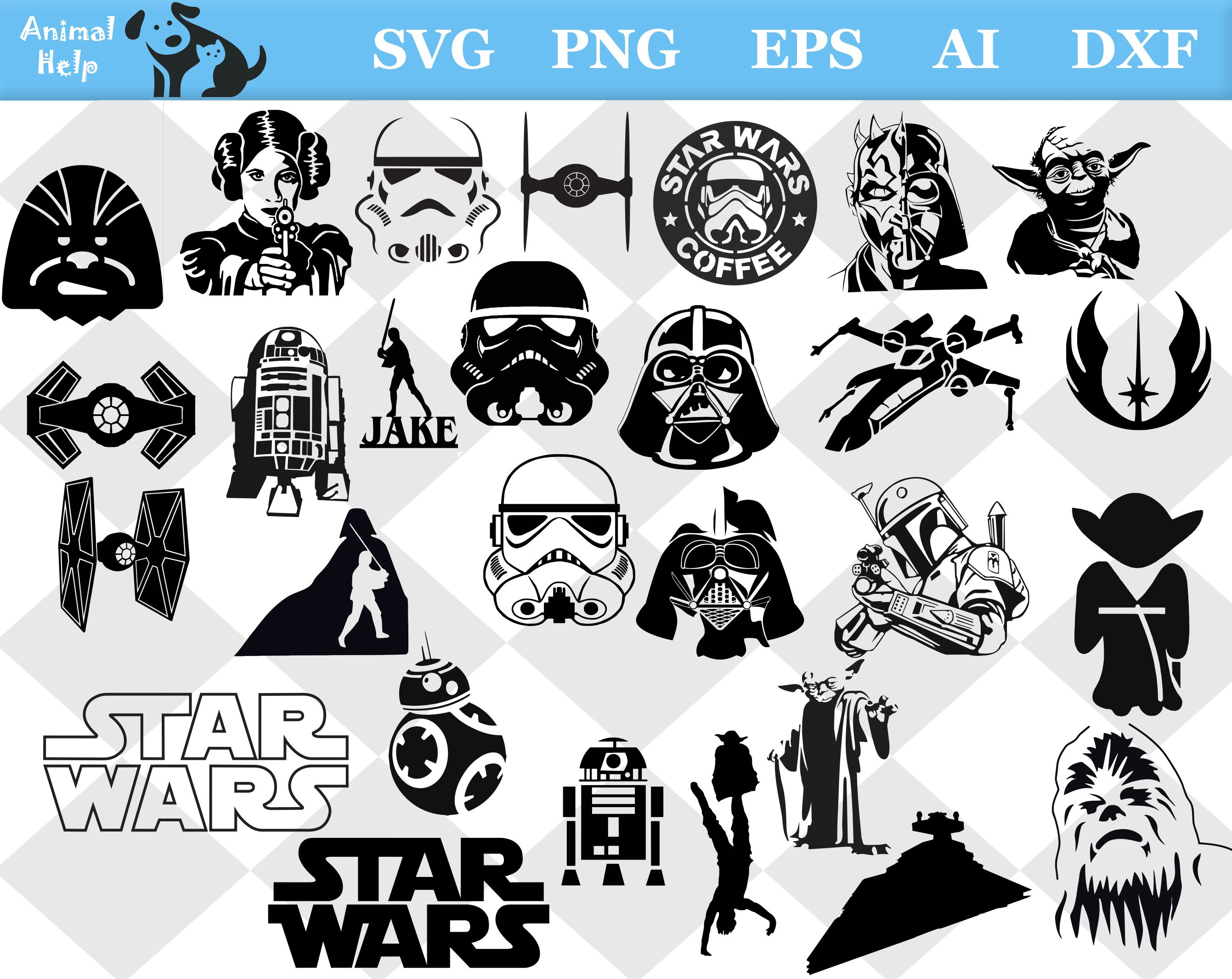 Printable Star Wars Characters Silhouette: Star Wars Characters, Star Wars  Characters Silhouettes