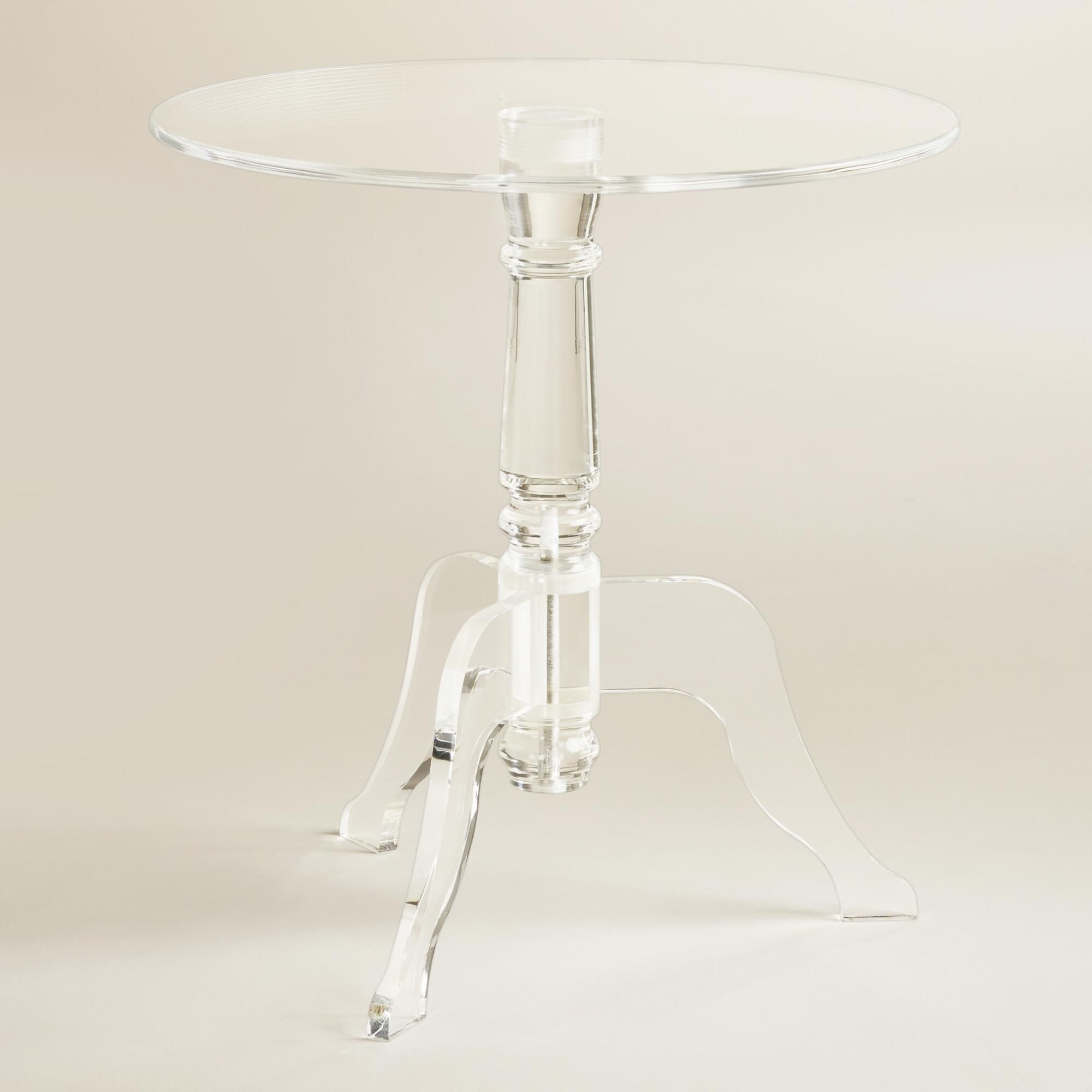 Clear acrylic zella accent table accent table wood